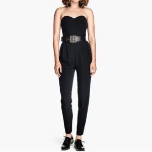H&M strapless pleated jumpsuit